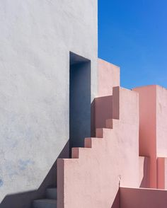 www.littlerugshop... Lovely colors and shapes in this mediterranean building work of architect Ricardo Bofill in Calp Spain. By Ashley Howe by cntraveler