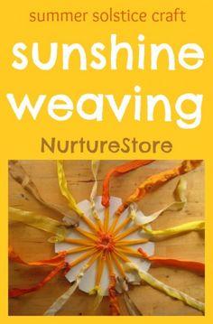 Beautiful sun weaving - perfect solstice craft for kids!