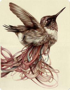 "marcomazzoni: ""The Loser"" 2013, colored pencils and ink on moleskine paper, cm…"