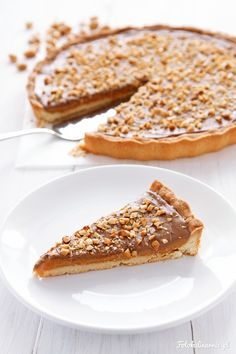 Dulce de Leche, Peanut Butter and Milk Chocolate Tart. Delicious Desserts, Dessert Recipes, Yummy Food, Sweet Pie, 20 Min, Cake Cookies, Food And Drink, Cooking Recipes, Sweets