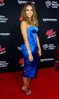 Jessica Alba in Zac Posen Celebrity Gallery, Celebrity Style, Satin Dresses, Blue Dresses, Backless Dresses, Jessica Alba Sin City, Hispanic Actresses, Jessica Alba Pictures, Jessica Ricks