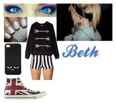 """Beth <3"" by jesseee-xp ❤ liked on Polyvore featuring Forever 21, Zoe Karssen, Monki and Converse"