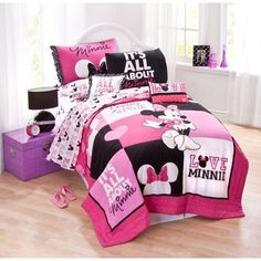 """Disney Minnie Classic """"Pink Squares"""" Quilt Set, Twin ** For more information, visit image link."""
