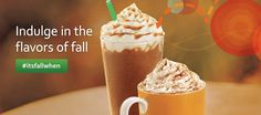 #itsfallwhen...Pumpkin Spice Latte and Salted Caramel Mocha are back!