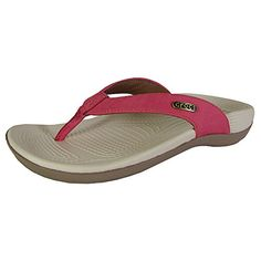 b9b67caf3cb8 crocs Womens Ella Comfortpath Flip Flop PoppyMushroom 8 M US -- Want  additional info  Click on the image. (This is an affiliate link)