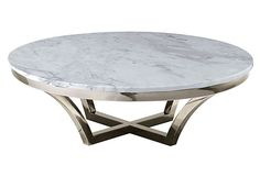 "Aurora Marble Coffee Table on OneKingsLane.com 41.25""Dia x 16""H"