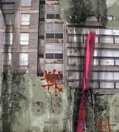 David Hepher - Durrington Towers The layering in this painting suggests the passing of time; crumbling concrete and the building up of grafitti. Urban Landscape, Landscape Art, Growth And Decay, Elephant And Castle, Urban Photography, Experimental Photography, Street Photography, Urban Nature, Building Art