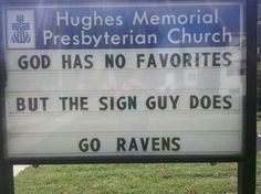 Sign guy - Ravens fan