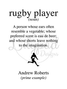 Rugby player wall art print by Lilypaddesignsuk on Etsy