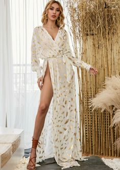 Long Sleeve Maxi, White Long Sleeve, Dress P, Wrap Dress, Party Dress, Robes Glamour, Azazie Dresses, Most Comfortable Jeans, Types Of Skirts