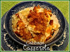 """This """"Cabbage Casserole"""" is just a good old country recipe. It transforms cabbage into something that even some who are not so c..."""