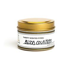 blood countess: a warm, resinous, and spicy home fragrance where classic biblical incense is joined by dragon's blood resin.  $30.00