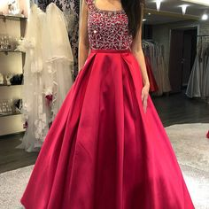 Ulass Cap Sleeves Prom Dress, Beaded Prom Dress, Backless Prom Dress, Red Prom Dress, Long Prom Dress 2018 · Ulass · Online Store Powered by Storenvy Indian Gowns Dresses, Prom Dresses With Sleeves, Backless Prom Dresses, A Line Prom Dresses, Evening Dresses, Long Dresses, Indian Wedding Gowns, Wedding Dresses, Floor Length Dresses