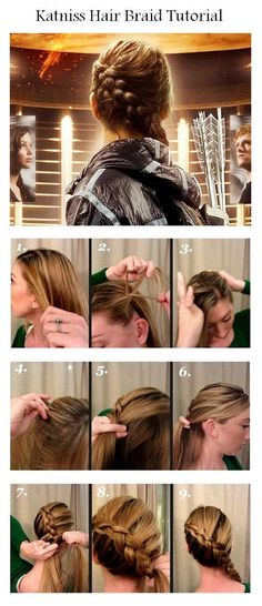 How To Make Katniss Hair Braid | hairstyles tutorial - haha.. like I will ever be able to do this (unless LB teaches me haha) :)