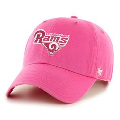 Los Angeles Rams Women's Pink Domestic Clean Up Adjustable Hat