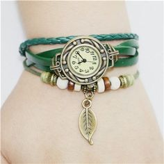 Fashion New Lady Women Womens Retro Leather Bracelet