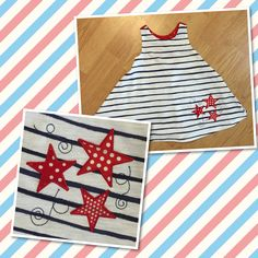 Decorated a little dress for Memorial Day for my daughter!
