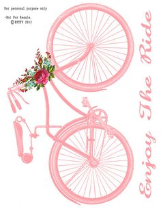Free Vintage Bike Image Transfer by Free Pretty Things For You!, via Flickr
