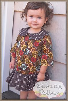 Nancy Dress (Size 12/18 months to Size 8) PDF Sewing Pattern and Tutorial