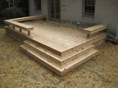 designs for simple wooden decks | in decking is still a good old fashioned wood deck. A new wood deck ...