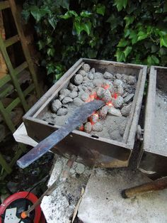 Blacksmithery on the barbecue? - yes, this really works!Here's how you can make the quality steel that is found in bicycle parts live on, by forging it into blades to create useful tools. The best thing though is that this can be done on a normal barbecue using lumpwood charcoal and a camping airbed inflation fan as a bellows. It is very satisfying.Video: superfast skim through the various forging, grinding, carving, sanding and polishing involved, and showing which reclaimed materials were…