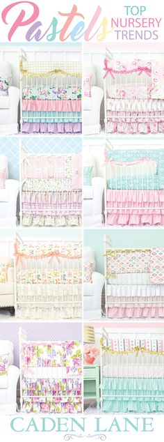 Pastel Baby Bedding comes in all of the most popular colors. Caden Lane has the most amazing baby bedding for a Pastel Nursery Design.