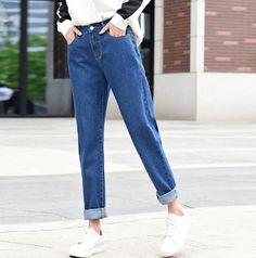 d1b09e476 2019 fashion brand jeans black white blue harem pants - 25% off Marcas De  Jeans