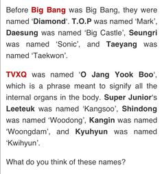 Well... Let's just have a moment of silence to thank the agencies for not going through with those names.