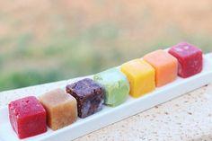Puré de frutas congelado. Y otras formas de hacer cubitos de hielo