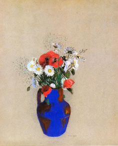 Poppies and Daisies - Odilon Redon - WikiPaintings.org