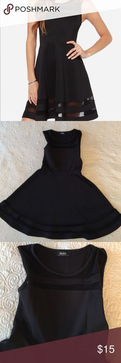 LuLu's fit and flare black dress Super flirty black LuLu's fit and flare dress. Only worn twice and is in good condition. It has a side zipper. Size is XS but I'm normally a small and it fit perfect. Perfect for a wedding or night out! Lulu's Dresses Mini