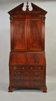 antique secretary desk | Colonial Secretary Desk, Mahogany Secretary Desk,Antique Styling
