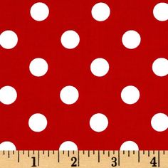 Michael Miller That's It Dot Minnie Red & White - Discount Designer Fabric - Fabric.com