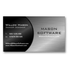 Black and Steel Folded Technology Business Card