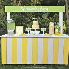 Lemonade Stand dessert setup