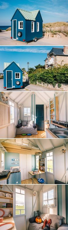 After discovering the tiny house movement spreading across America, French craftsman, Thomas, decided to create his own eco-friendly tiny house, Cahute.