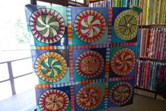 Material Obsession blog calls this quilt block Cog Wheel, but I know it as Wheel of Fortune.