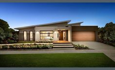 The Cosgrove by Dennis Family Homes, Find all of Greater Geelong Display Homes, Villages, Builders on one easy site. Search Builders, Displays & Floor plans by images or on maps along with their House & Land Packages. Bedroom House Plans, Dream House Plans, Modern House Plans, House Front Design, Modern House Design, Facade Design, Roof Design, Facade House, House Roof