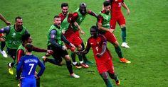 Listen and laugh as Portuguese commentators go NUTS over Eder's winner Cristiano Ronaldo, Portugal Fc, Two Men, Portuguese, The Row, Football, Sports, Closer, Soccer