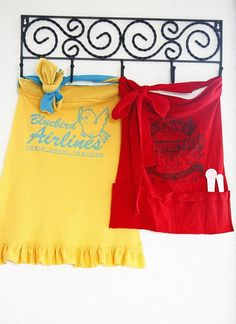 EASY T-Shirt Aprons DIY!! Tutorial to turn your tshirt into a fab apron! Great gifty idea too!