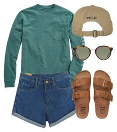 """Little Chief - North Carolina"" by theindielife ❤ liked on Polyvore featuring Vineyard Vines, Yves Saint Laurent and Billabong"