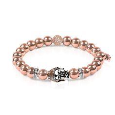 Karma   18k Rose Gold   Buddha Bracelet