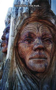 Awesome Maori Carving