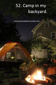 Backyard camping | Camping | Pinterest | Backyard camping, Camping on camping party ideas for teens, backyard party ideas for teens, camping checklist for teens,