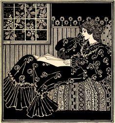 "A. Kay Womrath ""Lady reading"" The Savoy vol 3, London, 1896 | Flickr - Photo Sharing!"
