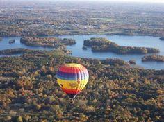 hot air balloons over Michigan