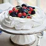 Pavlova With Lemon Cream and Berries Recipe | MyRecipes.com