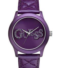 NEW Guess Quilted Patent Leather Purple Bracelet Watch Purple Love, Mode Purple, All Things Purple, Shades Of Purple, Purple Stuff, Ice Watch, Estilo Rock, Malva, Purple Jewelry