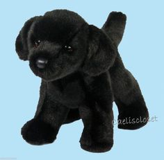 "Douglas Bear BLACK LABRADOR 10"" Plush Lab Retriever Dog Stuffed Cuddle Toy NEW #DouglasCuddleToy"