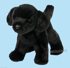 "Douglas Bear BLACK LABRADOR 10"" Plush Lab Retriever Dog Stuffed Cuddle Toy NEW #DouglasCuddleToy"
